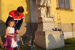 U sv. Floriana - patrona hasičů - symbolicky vzplál oheň