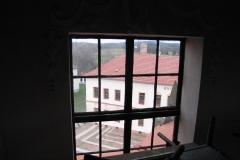 okno v kopuli před výměnou 2017