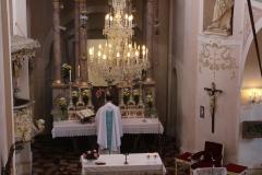 Poutní mši sv. dne 19. 8. sloužil P. Kalaš,kritizoval hluk z atrakcí, který bránil důstojnému prožití mše sv.