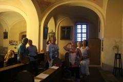 fotka z jedné z pravidelných prohlídek našeho kostela, pro turisty je nezištně zajišťovali J.Válková,L.Řehořová a J. Pumpr